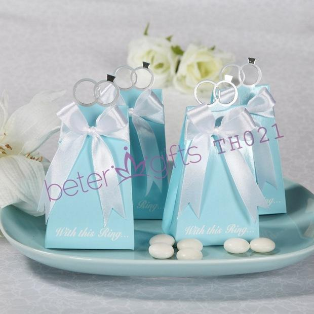 Mariage - Tiffany Blue Engagement Ring candy bag TH021/A
