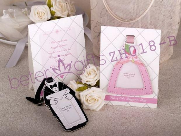 Novelty Bride And Groom Luggage Tag Zh018 Wedding Gifts Or Party Favor Bridal Shower