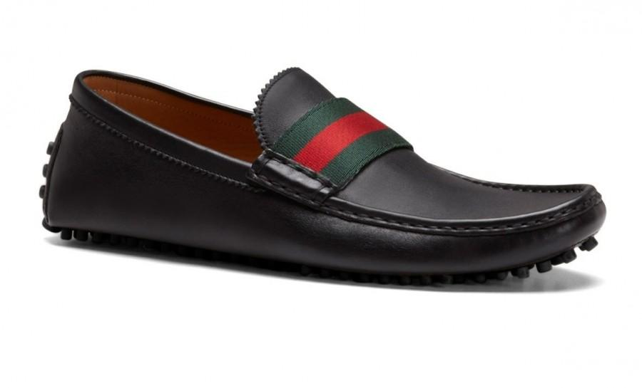 c1d39702acf GUCCI Mens Driver Black Loafers Pebble Sole Shoes  2203790 - Weddbook