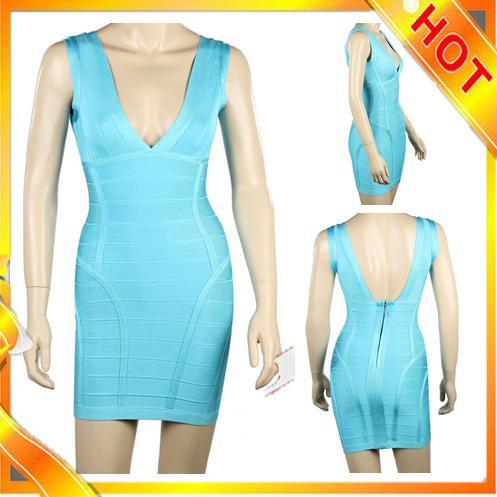 Wedding - Good Quality Bandage Dress,Sexy Blue Bandage Dress