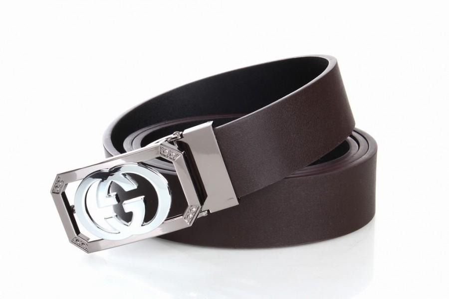 Mariage - GUCCI GG Initials Brown Leather Belts