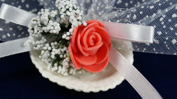 Mariage - #wedding #beachwedding #favors #bridal #bridalshower #rose #romantic #oyster #lavender #sachets #pinkcoral #organza #ribbon