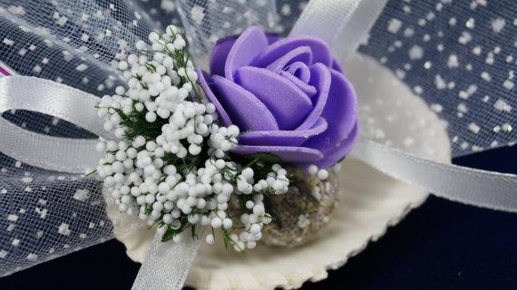 Mariage - #wedding #beachwedding #oyster #lavender #sachets #favors #romantic #chic #rustic #organza #ribbon #lilac #purple #rose #bridalshower
