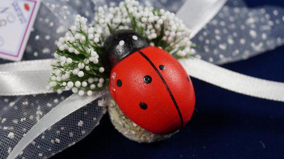 Mariage - #wedding #beachwedding #ladybug #lavender #sachets #favors #funny #happy #organza #ribbon #red #bridalshower