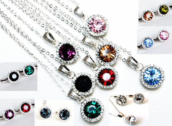 Wedding - #bridal #bridesmaids #wedding #jewelryset #artdeco #clearcrystal #rhinestone #necklace #earrings #chic #purple #pink #oilgreen #black #burgundy #champagne #emerald #navyblue #somethingblue