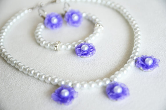 Wedding - #lilac #lavender #wedding #bridal #bridesmaids #flowergirl #jewelry #pearl #necklace #earrings #bracelet #chic #gift