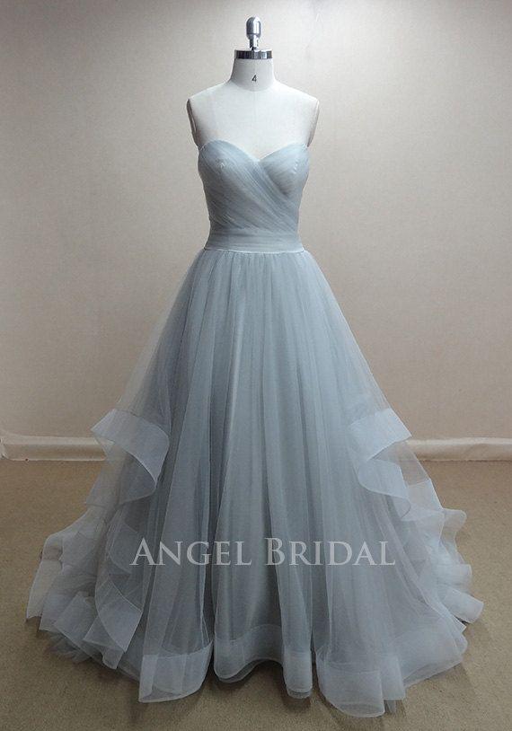 A-Line Moonlight Tulle Evening Dress, Evening Gown, Evening Dresses ...