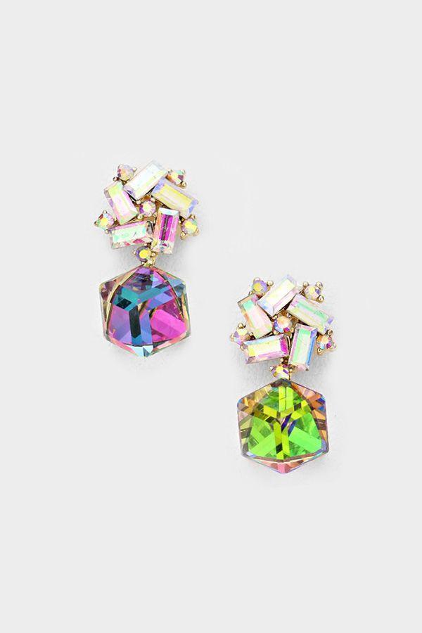 Wedding - Crystal Valentina Earrings In Vitrail
