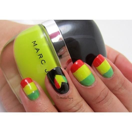 Wedding - Tuesday's : Graphic Brights And Simple Nail Art