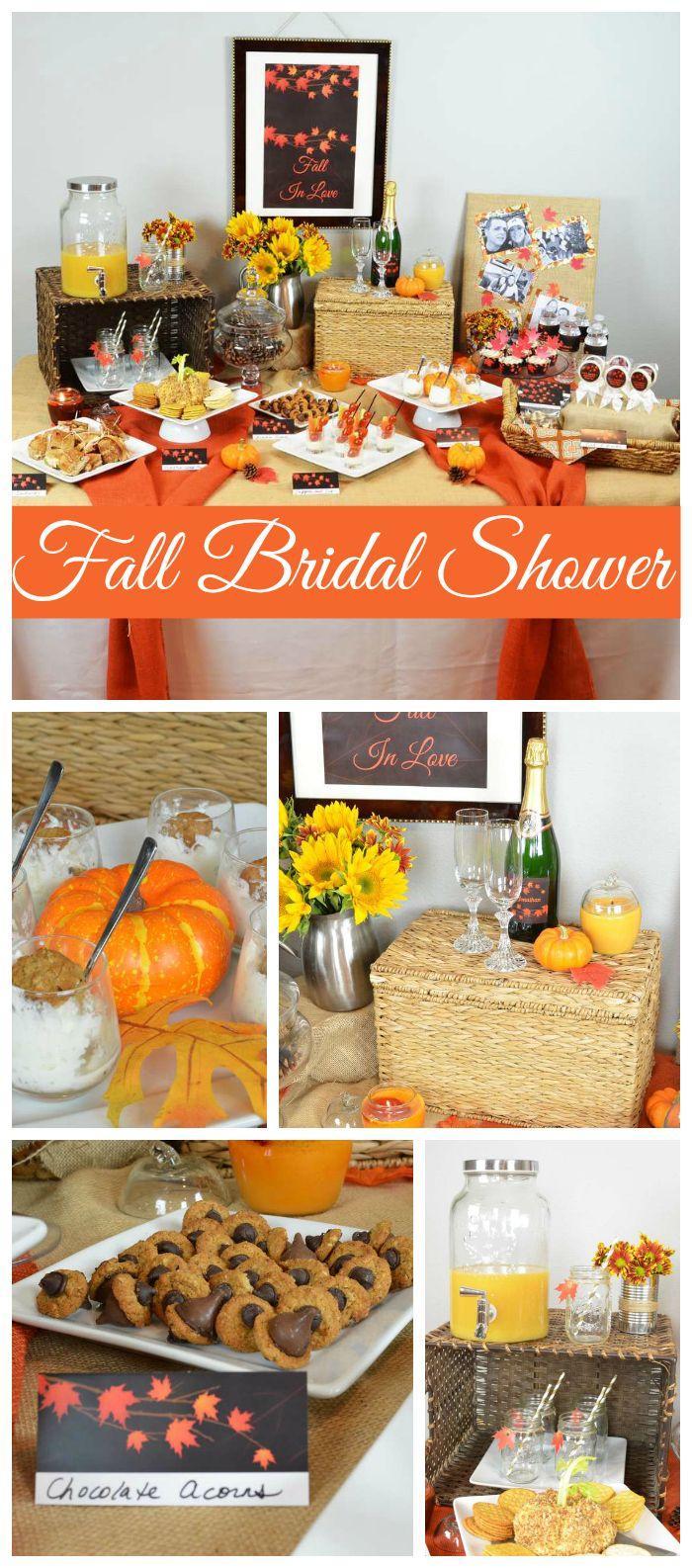 "زفاف - Autumn Leaves Bridal Shower / Bridal/Wedding Shower ""Erin & Jonathan's Fall In Love Shower"""