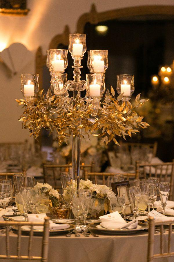 Decor Candelabra Centerpiece With Greenery 2205063