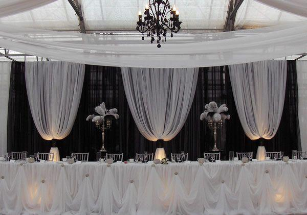 Wedding - Professional Wedding Backdrop Kit W/Pipe, Drape, Valence: 3 PANEL 6-10ft TALL