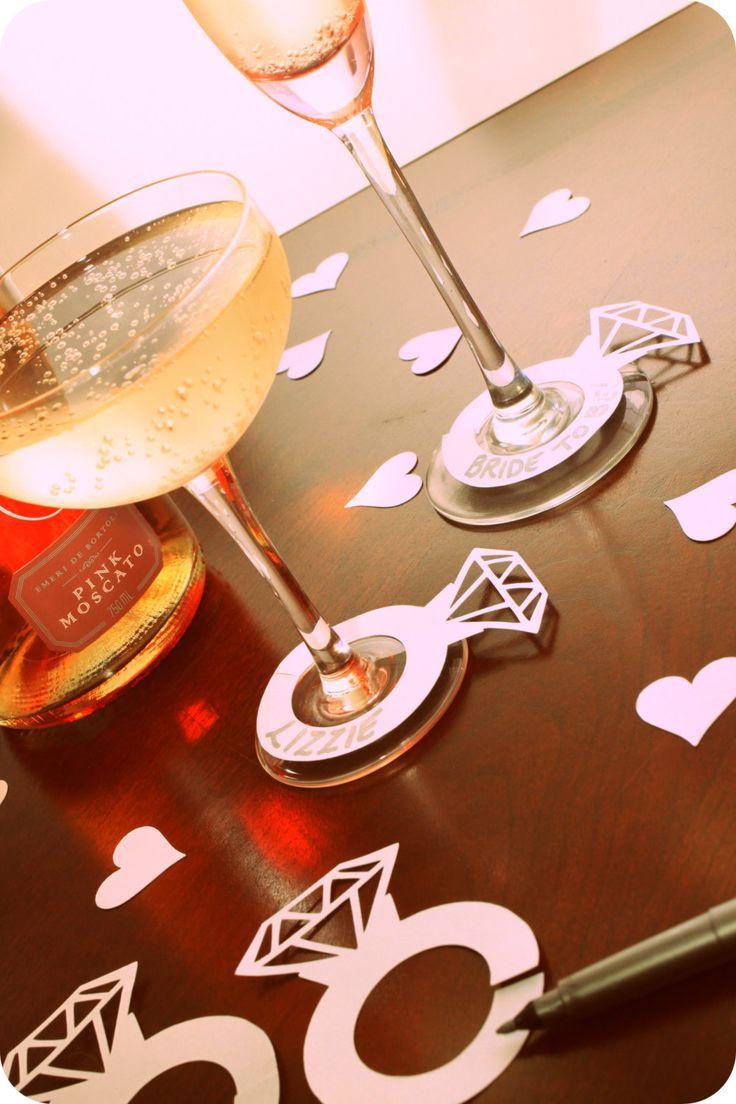 زفاف - 40 He Put A Ring On It Diamond Engagement Ring Wine Champagne Drink Markers For Bachelorette Bridal Shower Or Engagement Party
