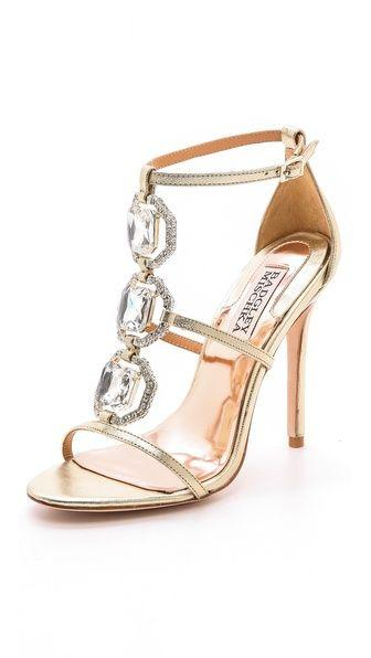 زفاف - Harvey II Jeweled T Strap Sandal