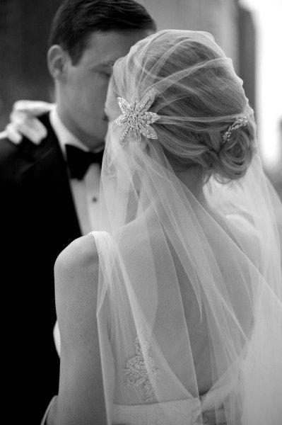 Wedding - Art Deco Juliet Cap Veil Vintage Inspired Tulle Veil - Made To Order - CAROLYN - As Seen In Style Me Pretty