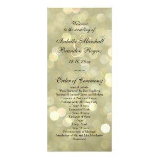 زفاف - Champagne Bubbles Wedding Program