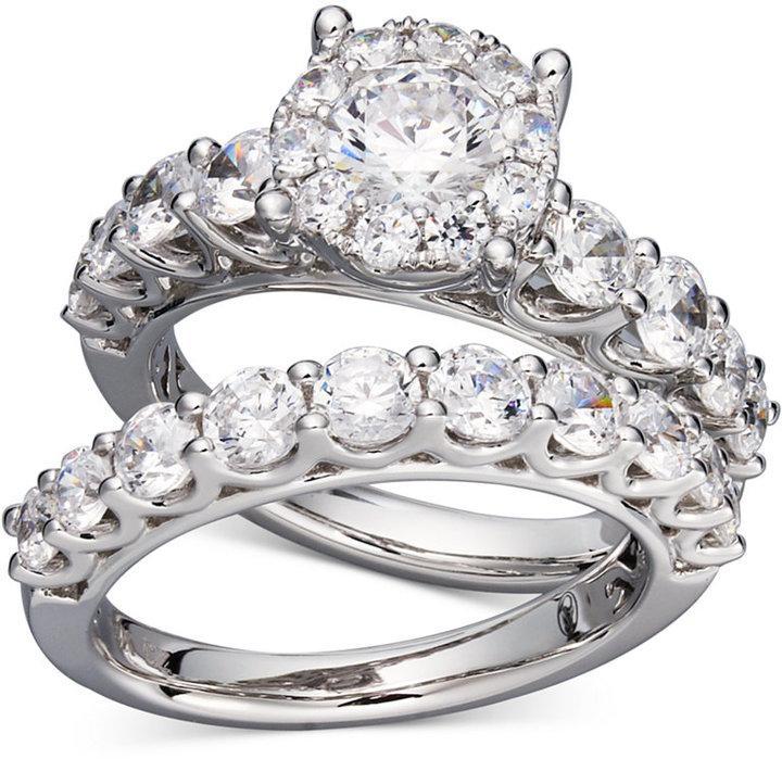 Wedding - Prestige Unity Diamond Bridal Ring Set in 14k White Gold (2 ct. t.w.)