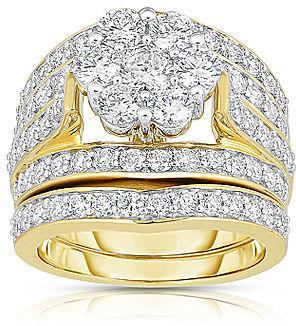 Wedding - FINE JEWELRY 3 CT. T.W. Diamond 14K Yellow Gold Bridal Ring Set