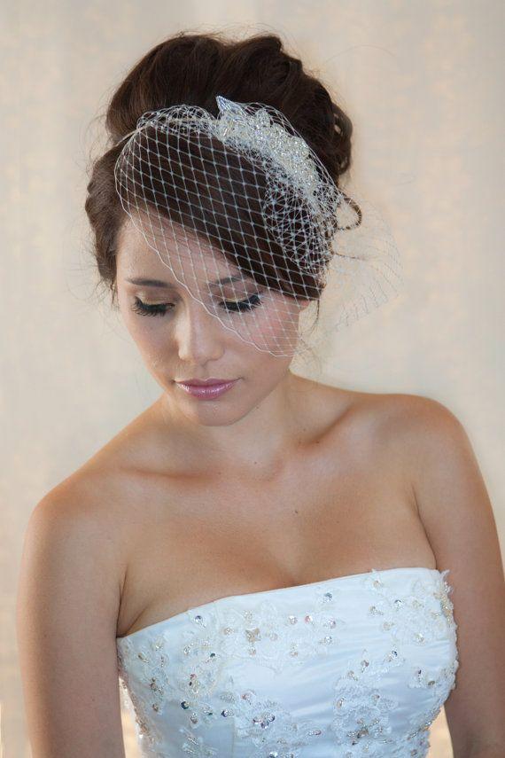 Wedding Birdcage Veil With Crystal Rhinestone Applique VI04 #2206209 ...