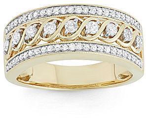Wedding - FINE JEWELRY 1/2 CT. T.W. Diamond 10K Yellow Gold Wedding Band