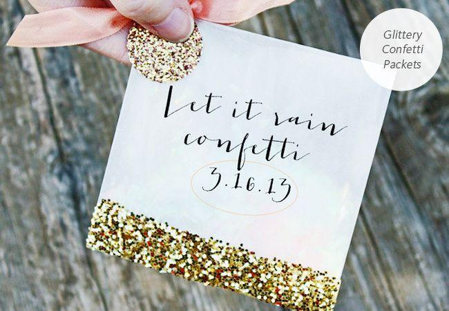 Wedding - 6 Gold And Sequins Wedding DIY Projects