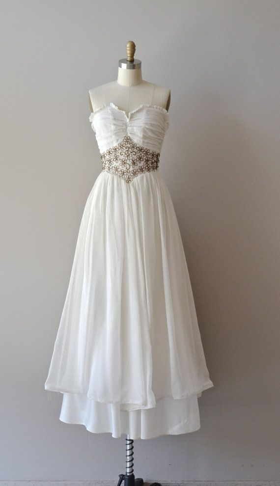 40s Wedding Dress Vintage 1940s Lagniappe Gown