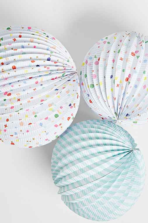 Mariage - Stripes   Charms Paper Globe Lantern Set