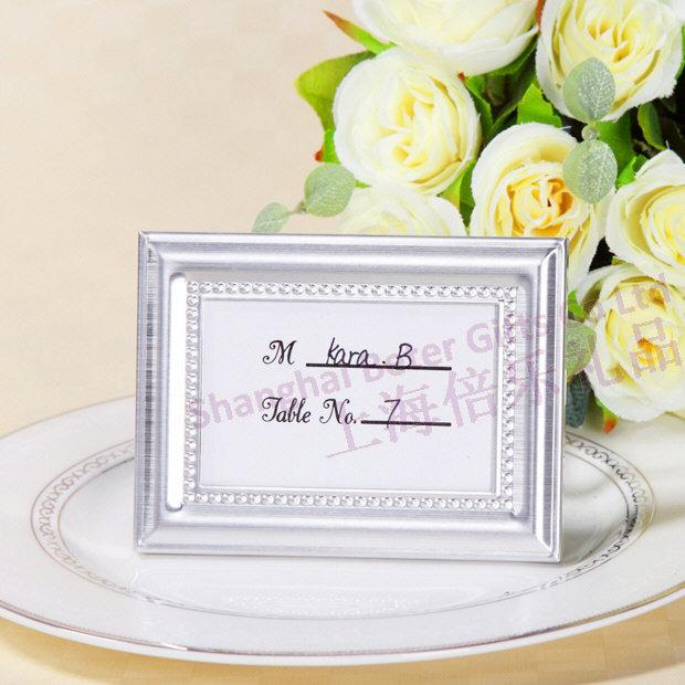 Beaded Photo Frame And Place Card Holder Wedding Reception Favors