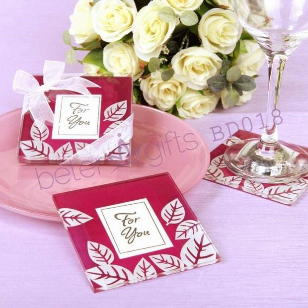 "Mariage - ""Fall Impressions"" Glass Photo Coasters(set of 2pcs)"