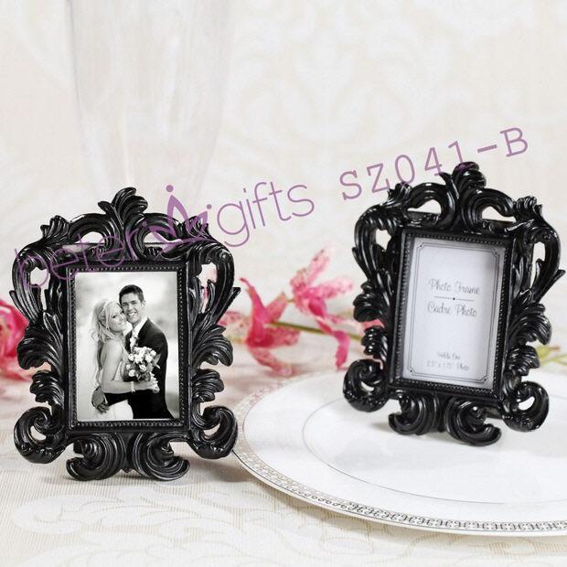 Mariage - Black Baroque Elegant Place Card Holder/Photo Frame