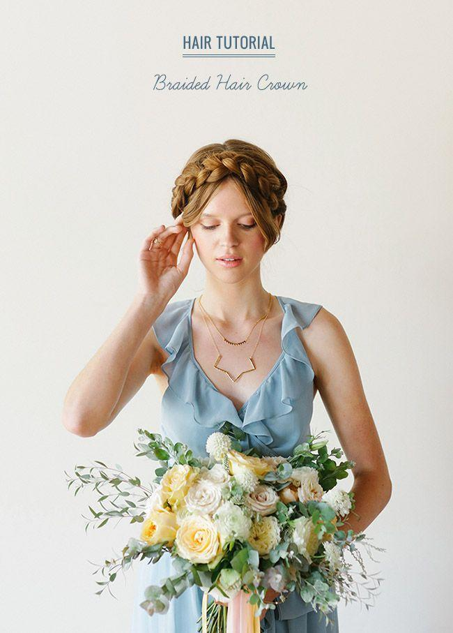 Wedding - Hair Tutorial: Braided Hair Crown