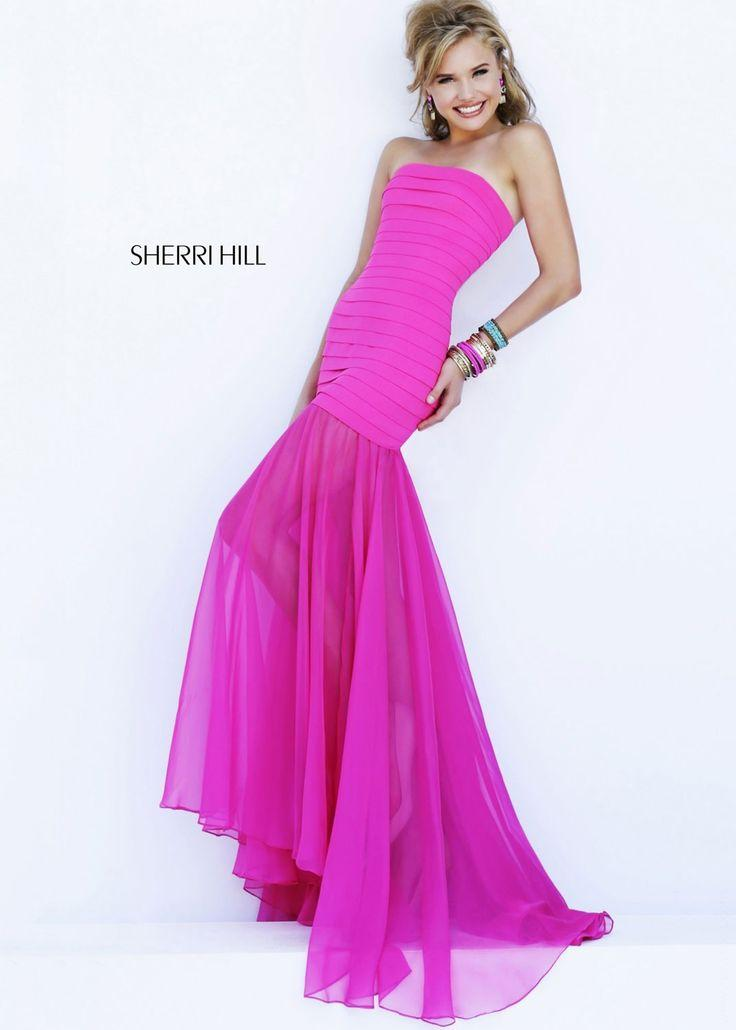Wedding - Sherri Hill 32167 Strapless Bandage Gown
