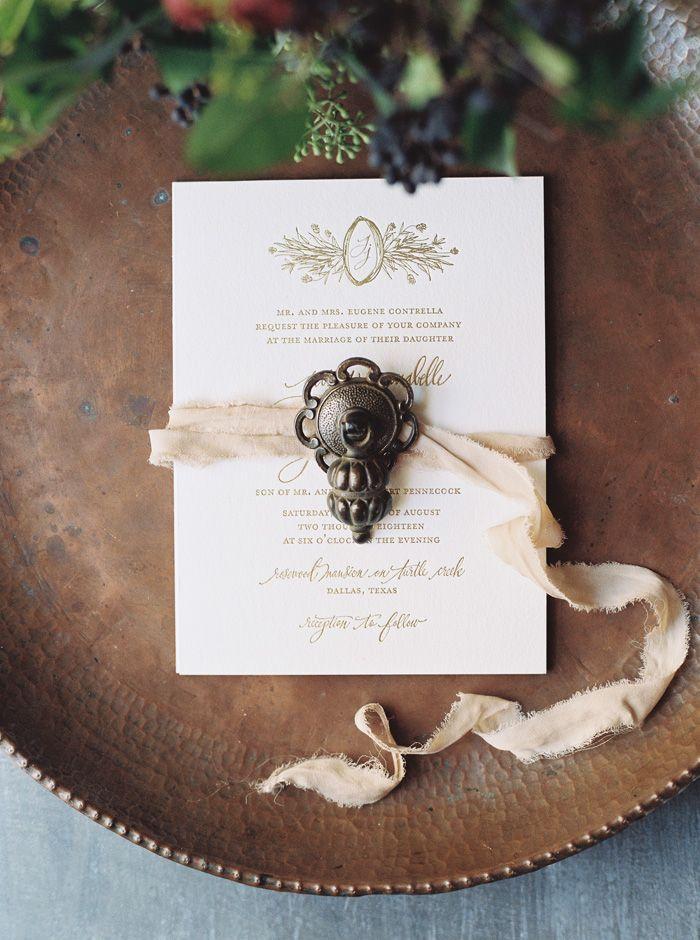 Mariage - Gold Wedding Inspiration