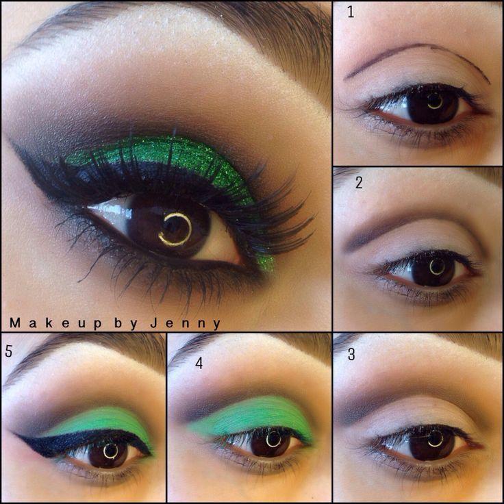 Фото пример макияжа для карих глаз