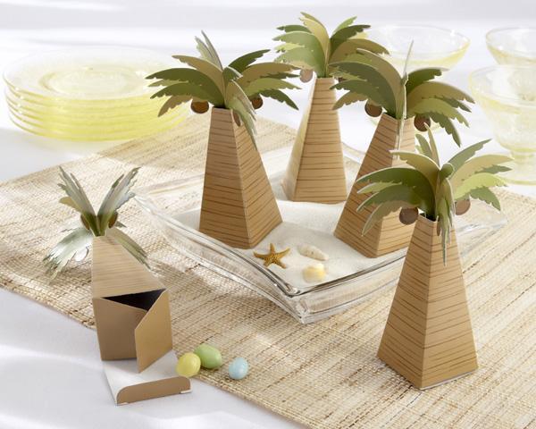 Palm tree favor box party decoration ideas 2208046 weddbook for Wedding mailbox decorating ideas