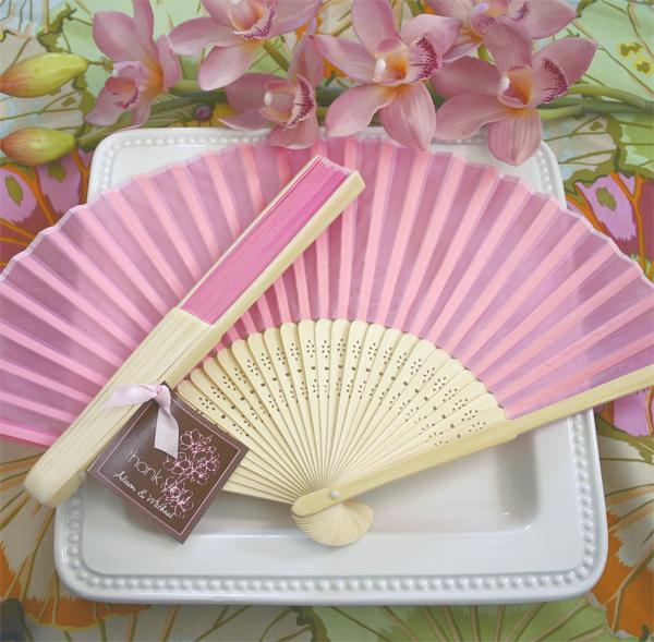 Wedding - Silk Fan - Pink