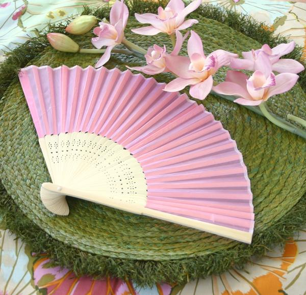 Wedding - Silk Fan - Pink