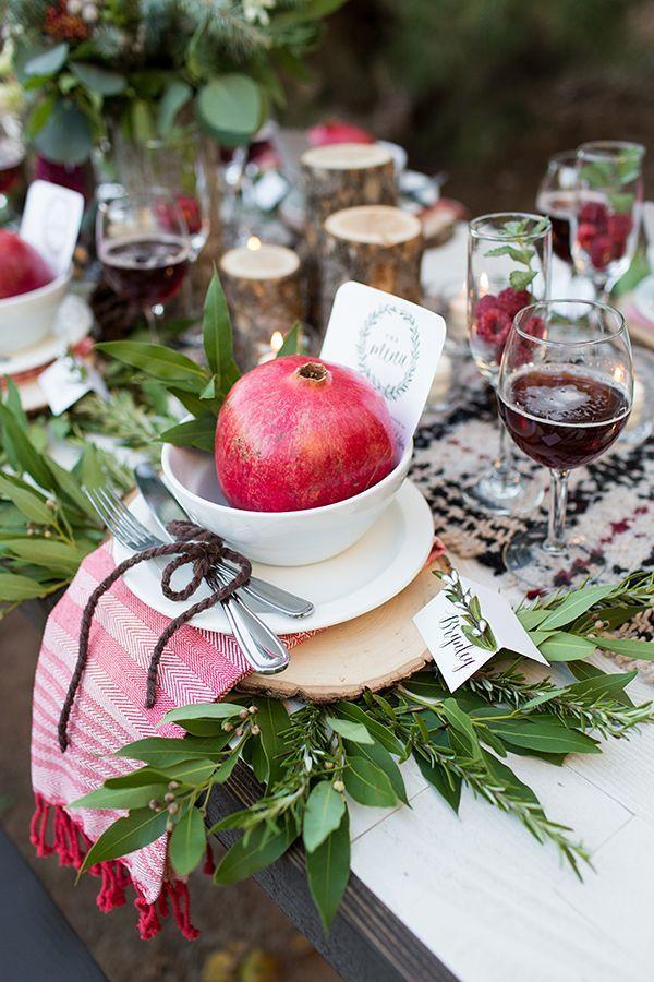 Wedding - Christmas Wedding Inspiration With Fruit Decor