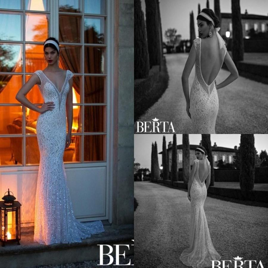 Свадьба - Cheap Berta Wedding Dresses - Discount Top Berta 2015 Mermaid Wedding Dresses V Neck Online with $141.1/Piece