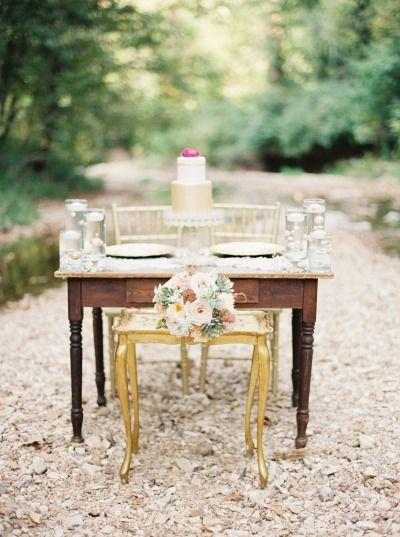 Mariage - Vintage Gold   Blush Wedding Inspiration