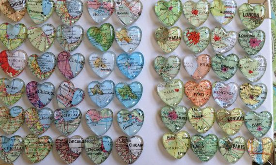 Wedding Favors Magnets (100 Individually Wrapped Favors) And Map ...