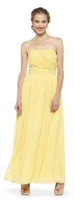 Wedding - Women's Chiffon Strapless Maxi Bridesmaid Dress - TEVOLIO
