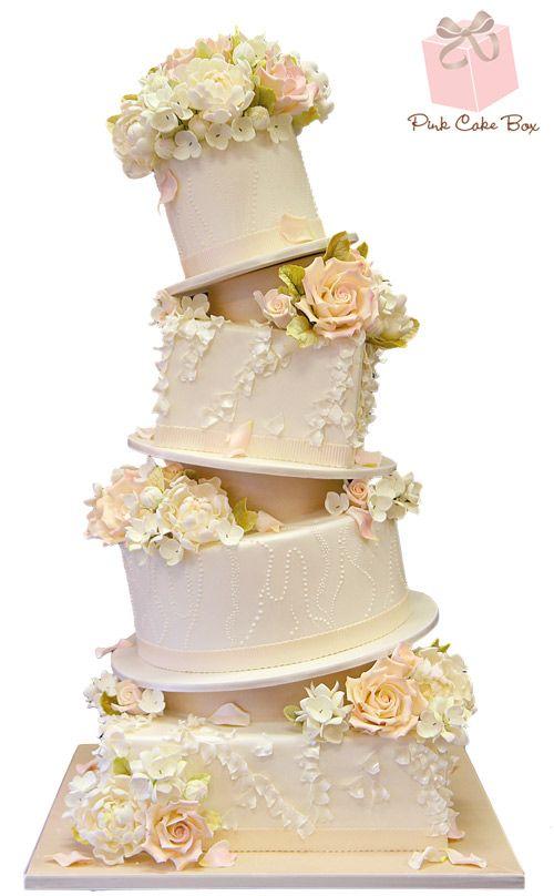 Topsy Turvy Ruffle Wedding Cake Spring Cakes