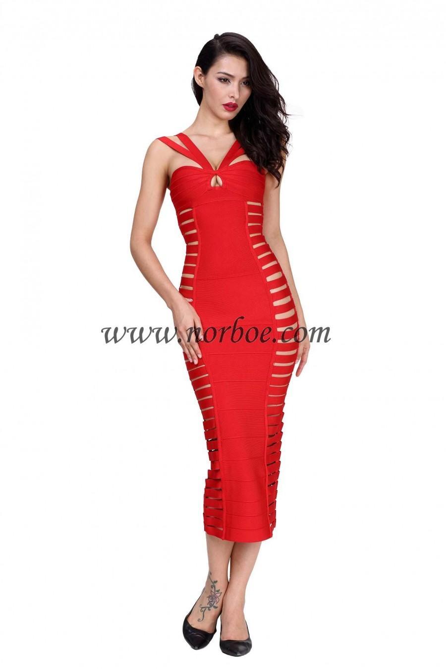 Wedding - Norboe Red Formal Evening Dress