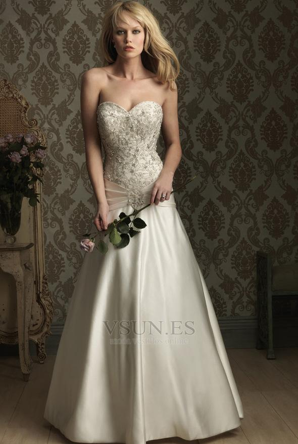 Hochzeit - Vestido de novia Espalda medio