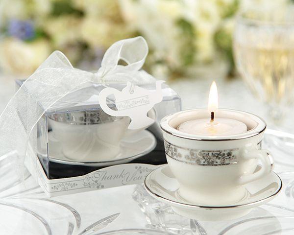 Hochzeit - Miniature Porcelain Teacups And Tea Light Holders