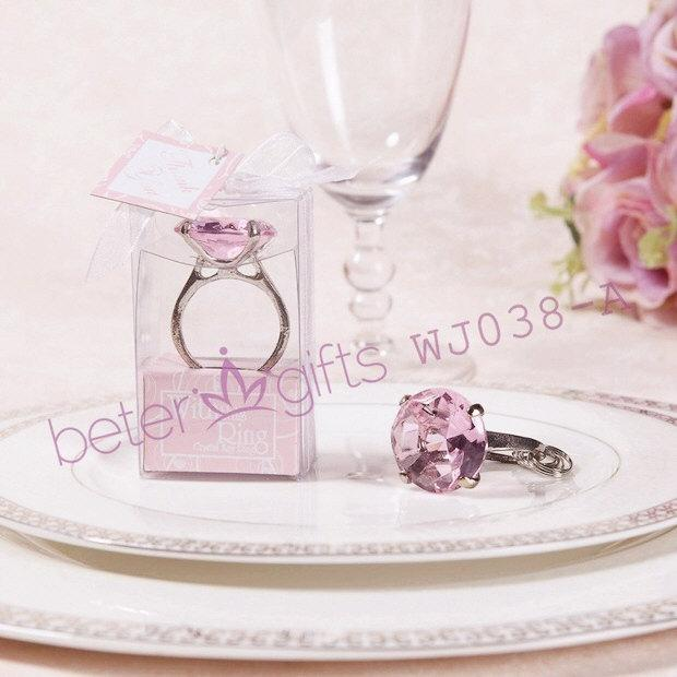 "Boda - ""With This Ring""Crystal Ring Keychain (Pink)"