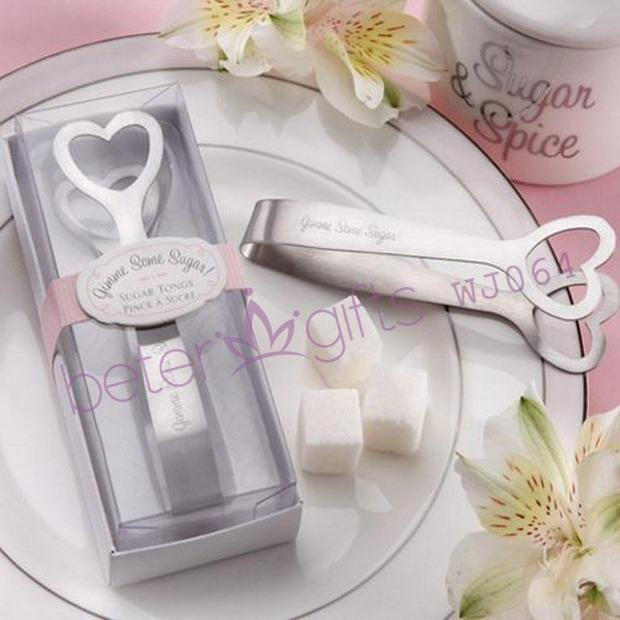 """Mariage - """"Gimme Some Sugar!"""" Stainless-Steel Heart-Themed Sugar Tongs"""