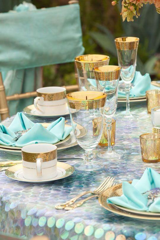 Tiffany Blue Wedding - Table Settings #2210365 - Weddbook