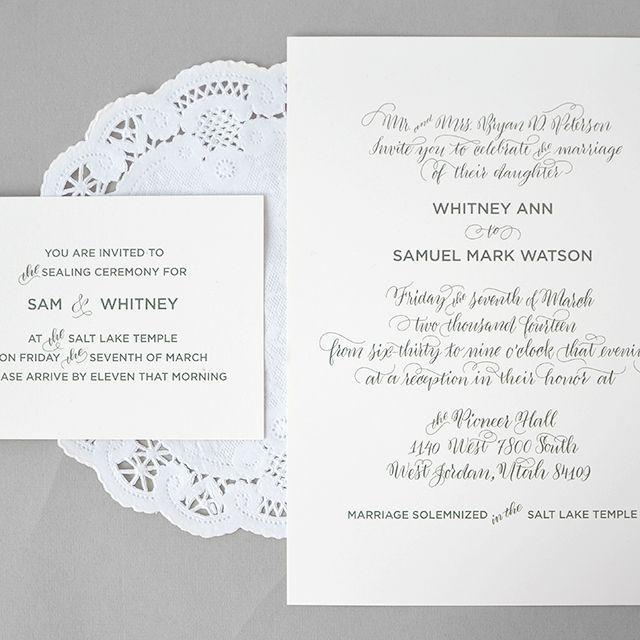 Hochzeit - WEDDING INVITES